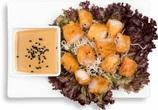 Palmitos tempura con mayonesa japonesa